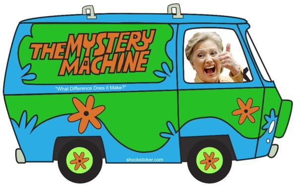 Hillary Clinton pulled the same Scooby Doo van ride in 2000