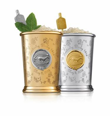 The Tradition of the Woodford Reserve $1,000 Mint Julep Cup donates its proceeds to equine and humanitarian causes