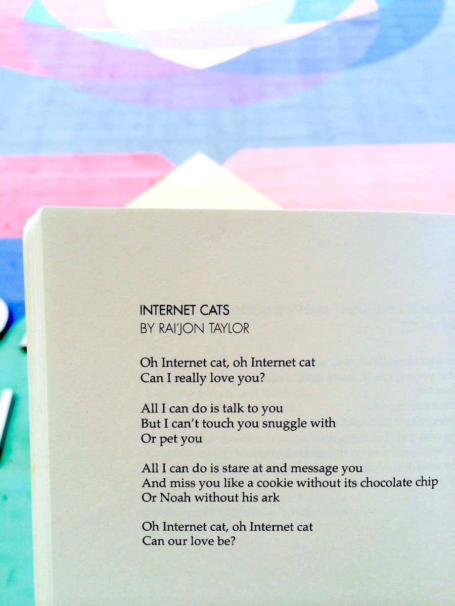 """Oh Internet cat, oh Internet cat / Can our love be?""—Rai'jon T., student poet from @826NYC #NPM15 http://t.co/9Bi2FJkHn9"