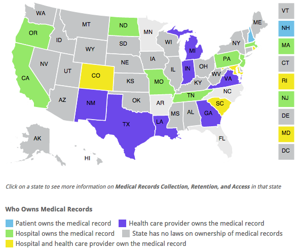 """@Rock_Health: Who legally owns medical records? http://t.co/bTxs8uxJ1S   (Patients own their own in NH) http://t.co/1b39JONFAh"" #HIMSS15"
