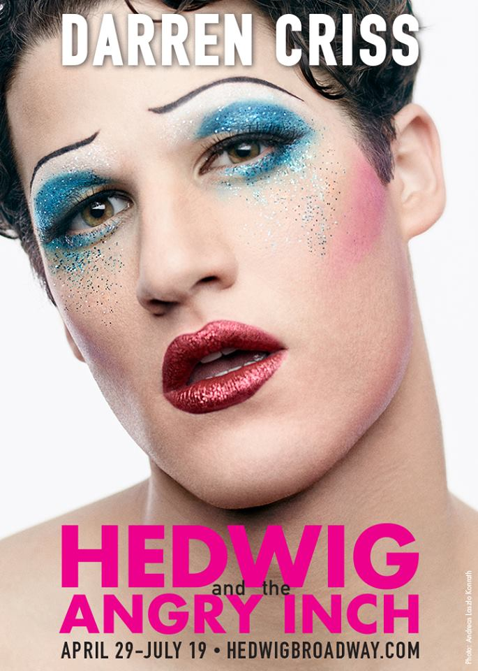 From #Glee to #Glamrock… @DarrenCriss gets @HedwigOnBway makeover in new Promo http://t.co/LVNewSFCiU