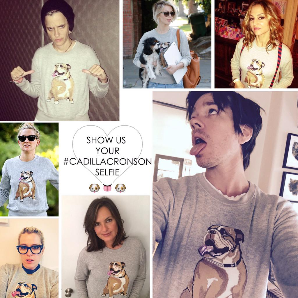 Show off ur Cadillac Sweatshirt! First 5 to share + tag #cadillacronsonselfie #jcpstyle will get a $50 JCP giftcard! http://t.co/4116NXEzUx