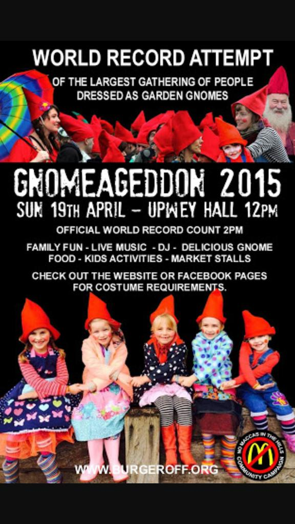 """The Burger Off Trail on Twitter: """"gNOmageddon is on Sun at Upwey ..."""