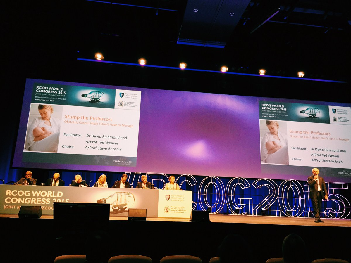 Stump the experts #rcog2015 Challenging obstetric cases #tocsornot http://t.co/kyswM2v5cf