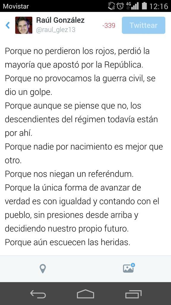 """""""@raul_glez13: Porque 140 caracteres no son suficientes y representa mucho más que esto #14deAbril http://t.co/UqMh8B98hf"""" #ReferendumYA"""
