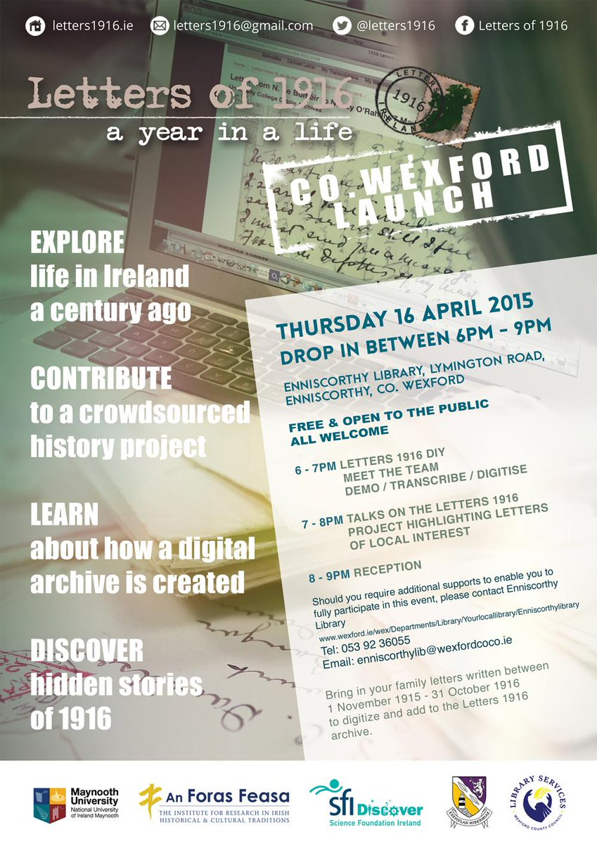 Thumbnail for Letters of 1916: Co.Wexford Launch | SFI Outreach Event | Enniscorthy | 16.04.2015