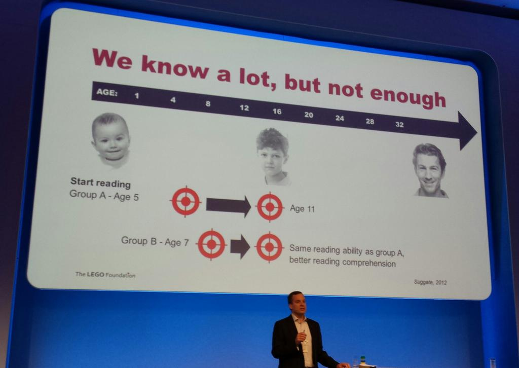 Kids who started reading at age 7 rather than 5, were by 11 just as good at reading but understood better #ideaconf15 http://t.co/Wc5qDnxZSs