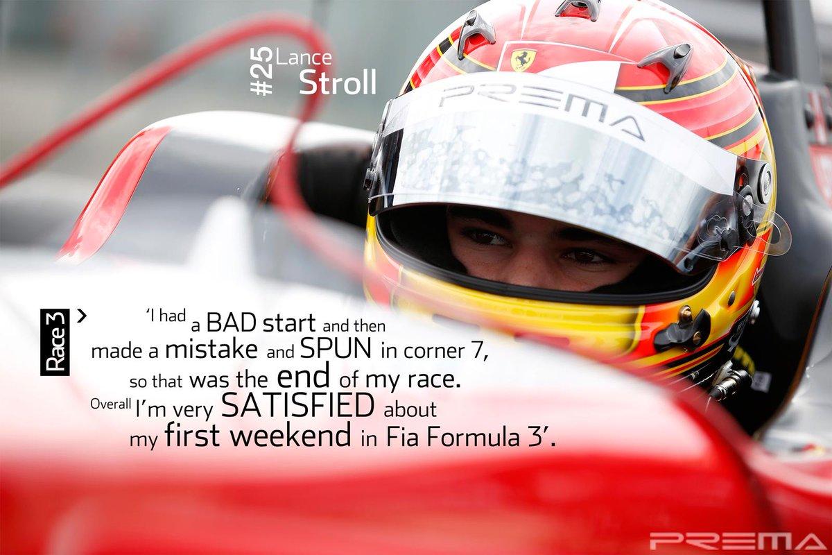 Prema On Twitter 25 Lance Stroll Race 3 Quotes Fiaf3 Silverstone Http T Co Yak6panlwy