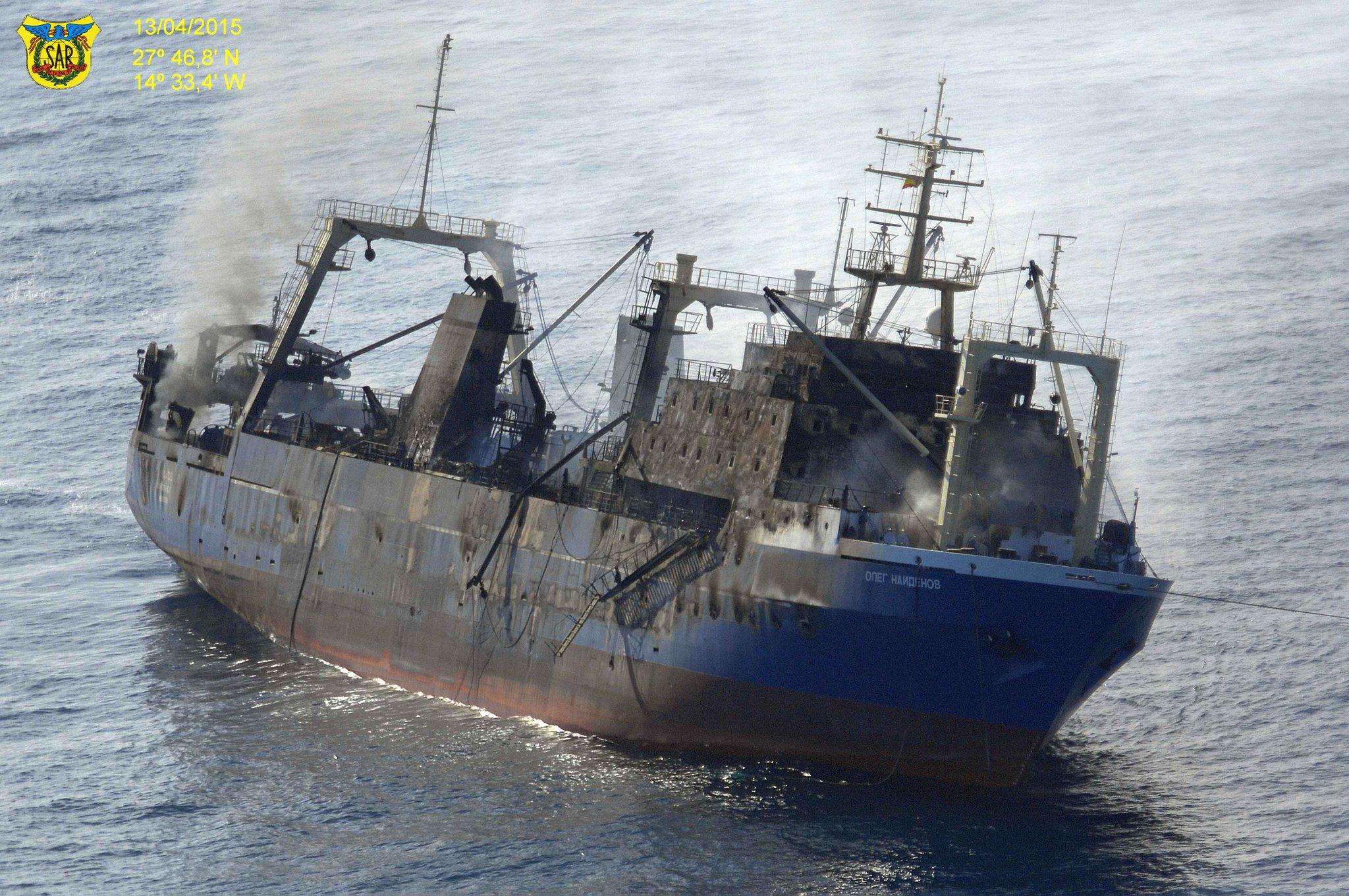 Russisches Fischereischiff gesunken