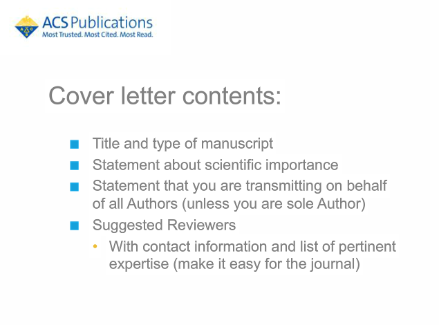 ACS Publications On Twitter Ensure Your Cover Letter Follows These