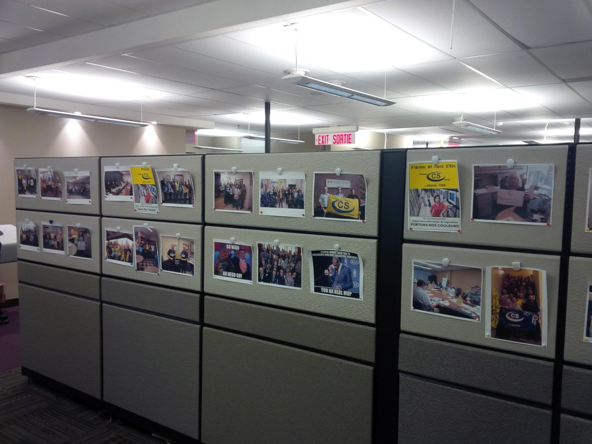 One of our corridor at CD Howe #Ottawa supporting bargaining #Nego2015 #PIPSC2015