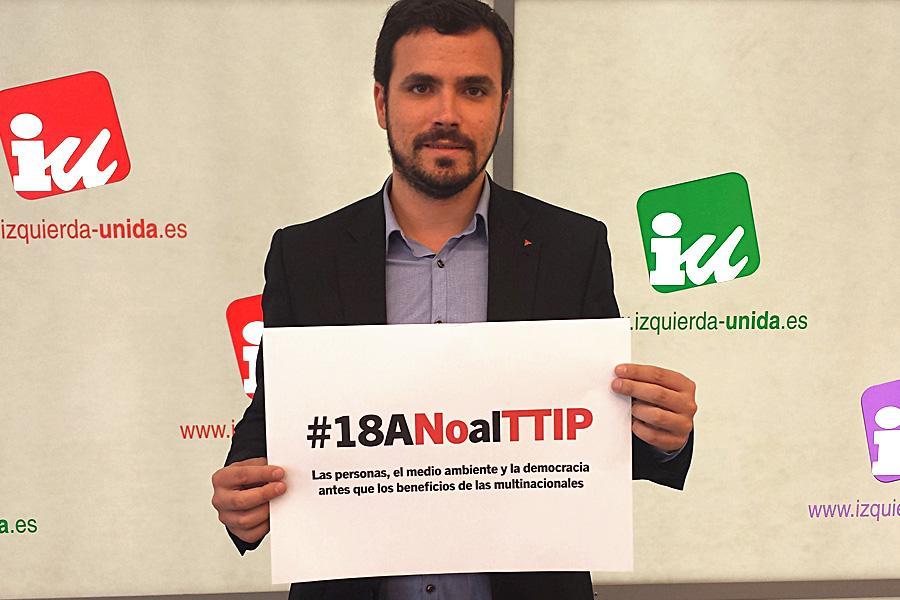 """.@agarzon: """"#18ANOalTTIP, las personas y la democracia antes que los beneficios de las multinacionales"""" #YoVoy18A http://t.co/gg1WNjZBXE"""