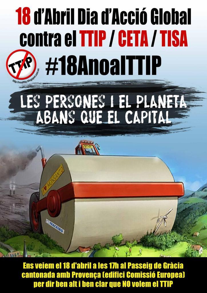 No a la dictadura del Capital #NoAlTTIP  #YoVoy18A http://t.co/nBp0vS2FJi