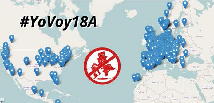 #YoVoy18A Acción Global #NoalTTIP (Tratado Comercio e Inversiones Europa y EEUU) http://t.co/N2znDmM0e0 #18ANoalTTIP http://t.co/XnxFkZ7Deb