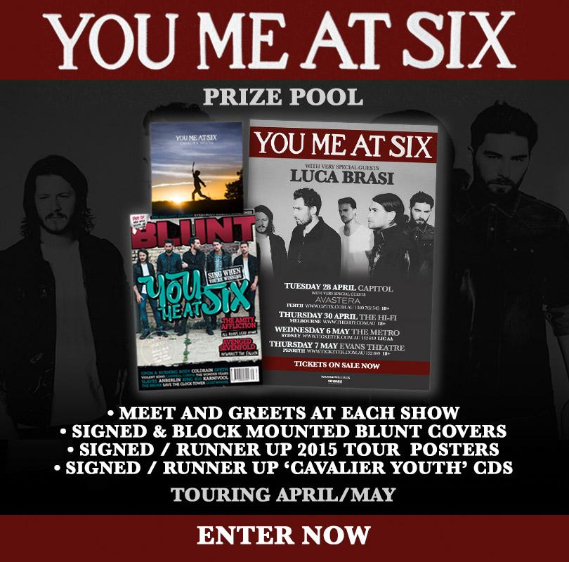 Your chance to win a Meet and Greet with YOU ME AT SIX or from a pool of Signed items http://t.co/jwoxaG1KYz http://t.co/jdlIEXZ6XK