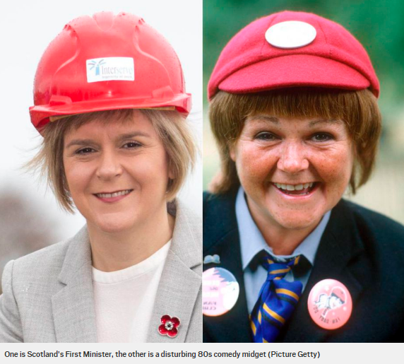 Image result for wee burney nicola sturgeon
