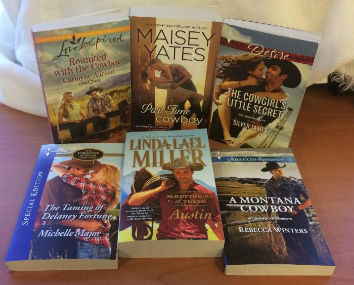 #Giveaway! Love cowboys? RT for chance to win these 6 western romances from @HarlequinBooks! US/CA, ends 11:59pm ET http://t.co/98xxYdgeij