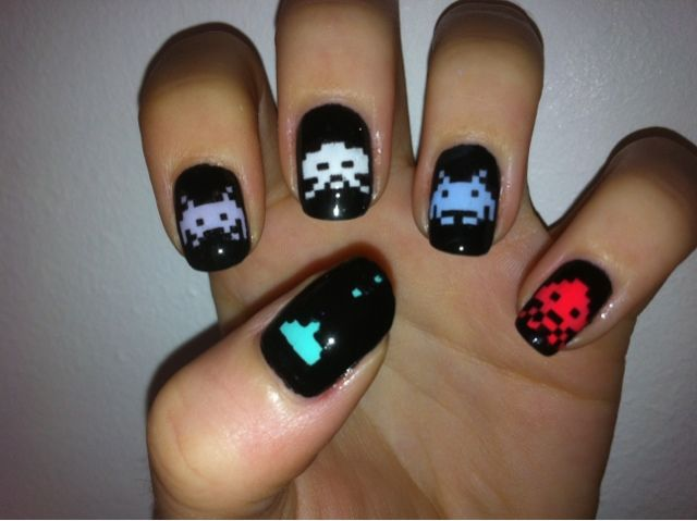 Lord Aaarghrse On Twitter Incredible Gaming Nail Art