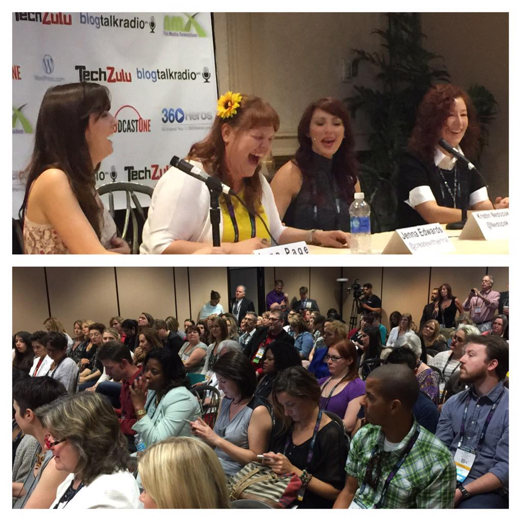 Standing room only for @CreateWithJenna @NMX Who wants her 2 keynote w @TheJennPage? Raise your hand & hashtag #NMX http://t.co/qiHzMt51fr