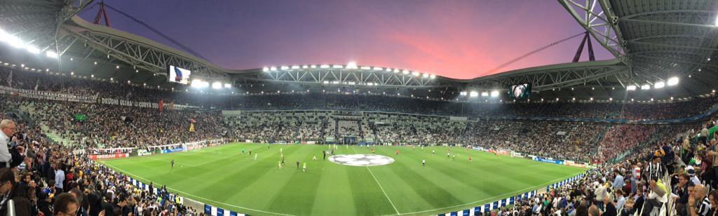 Juventus Stadium pronto per la sfida contro il Monaco di Coppa Campioni
