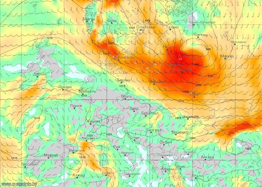 На 14 и 15 апреля объявлено штормовое предупреждение