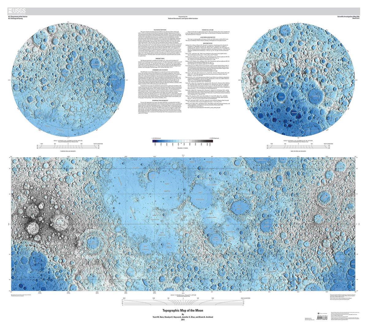 FOTO USGS NASA: La mappa della Luna piu' impressionante mai pubblicata prima