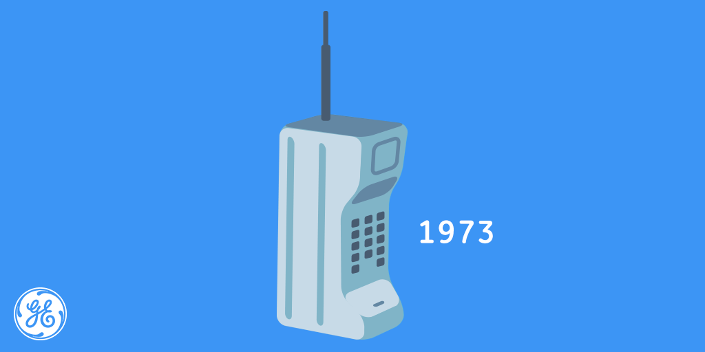 Cell the when phone first call made was History of