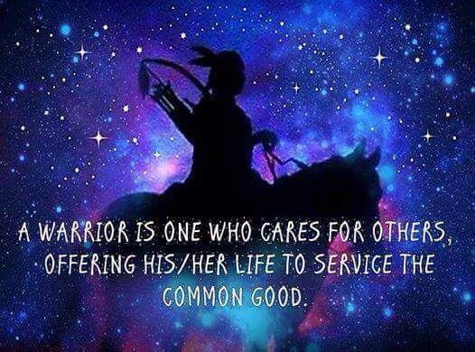 A #Warrior is one who cares and offers #...