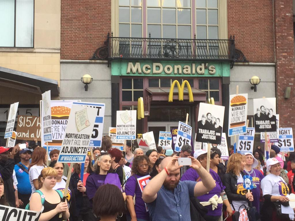 #WageAction shut this @McDonalds down, and workers won't stop until the #FightFor15 is won! #bospoli http://t.co/z9mCrOWVTH