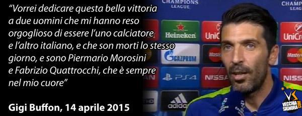 Juventus: Buffon dedica la vittoria sul Monaco a Morosini e Quattrocchi