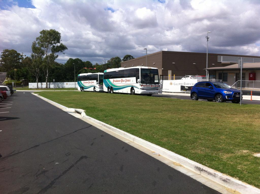 Two Empty Busses Have Just Entered Gallipoli Barracks Tennewsqld A