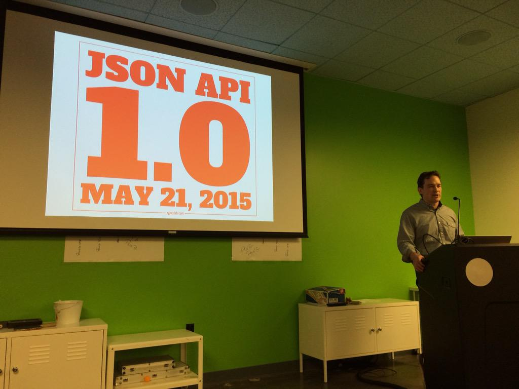 Woot! JSON API 1.0 coming May 21! Thanks @dgeb and @wycats! #emberjs http://t.co/UABZanVek9