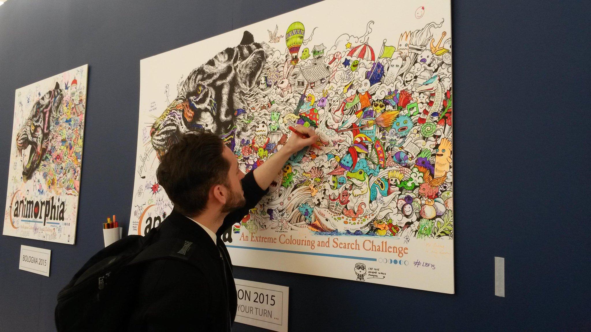 Art therapy coloring book michael omara - Michael O Mara Books On Twitter Bestselling Art Therapy Illustrator Richarddraws Enjoying Master Doodler Kerby_rosanes S Animorphia Poster Lbf15