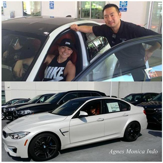 photo of Agnes Monica BMW - car