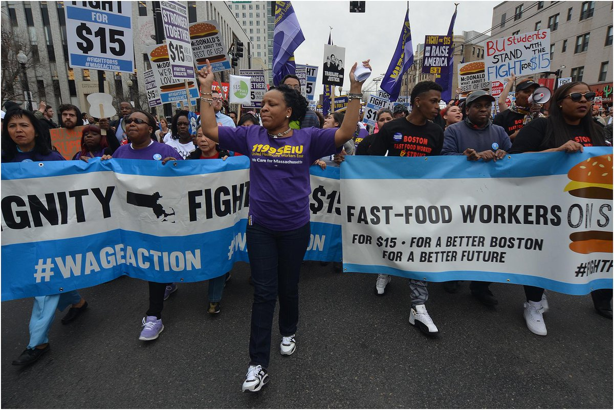 Photos of Boston #FightFor15 march. http://t.co/D5KcP05mle @WageAction http://t.co/uTUESwJu7z