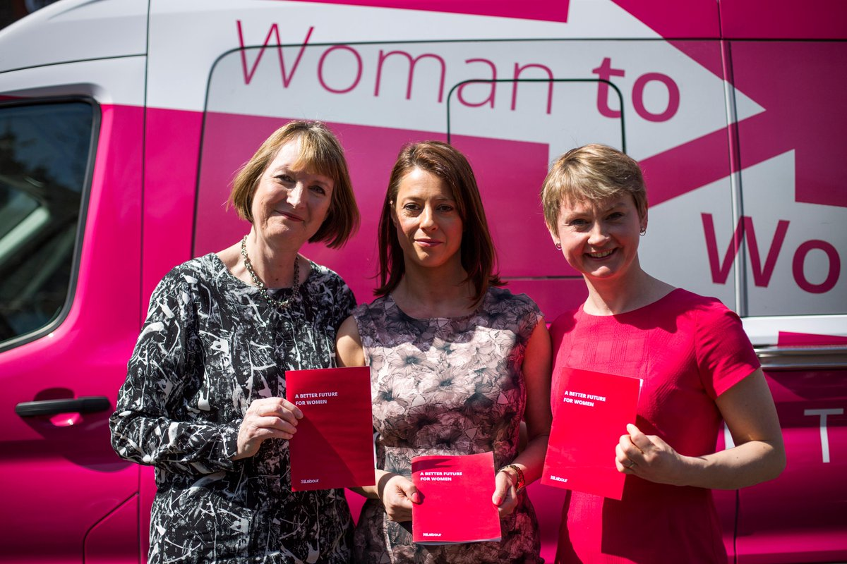 Harriet, Gloria and Yvette launch Labour's plan for women and families