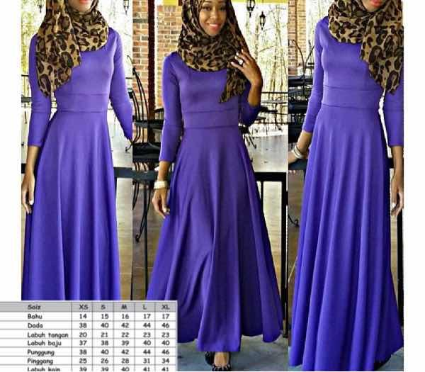 Maxi dress kain lycra