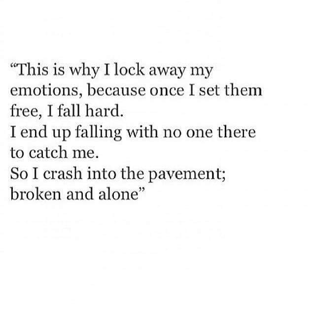 "Deep Sad Quotes Alone: On Twitter: ""This Is Why I Lock Away My Emotions.. Http"