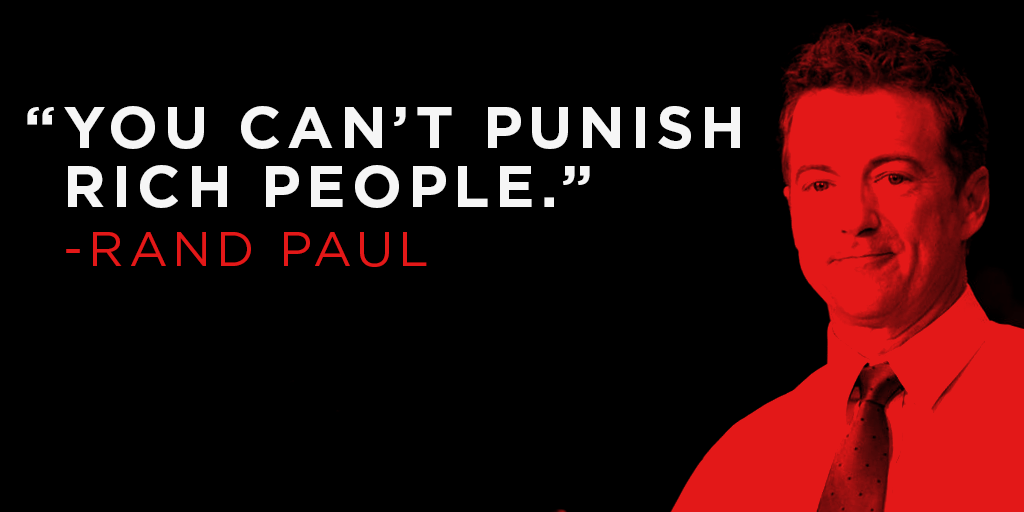 «You can't punish rich people.»