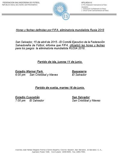 Eliminatorias Copa Mundo Rusia 2018: Serie con San Cristobal y Nieves. CCqFA-dVAAIfLBC
