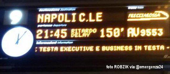 Frecciarossa: Treni fermi per ore fuori Roma