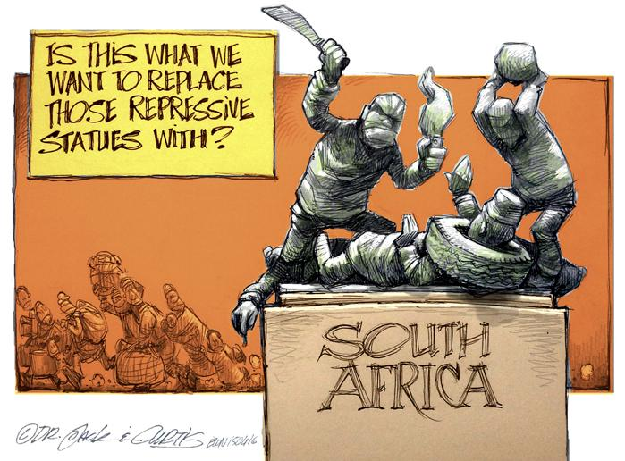 [CARTOON] Monumental Repression - http://t.co/7GVufnwX0Y by Dr Jack & Curtis of @africartoons #Xenophobia http://t.co/JJVdOz7La5