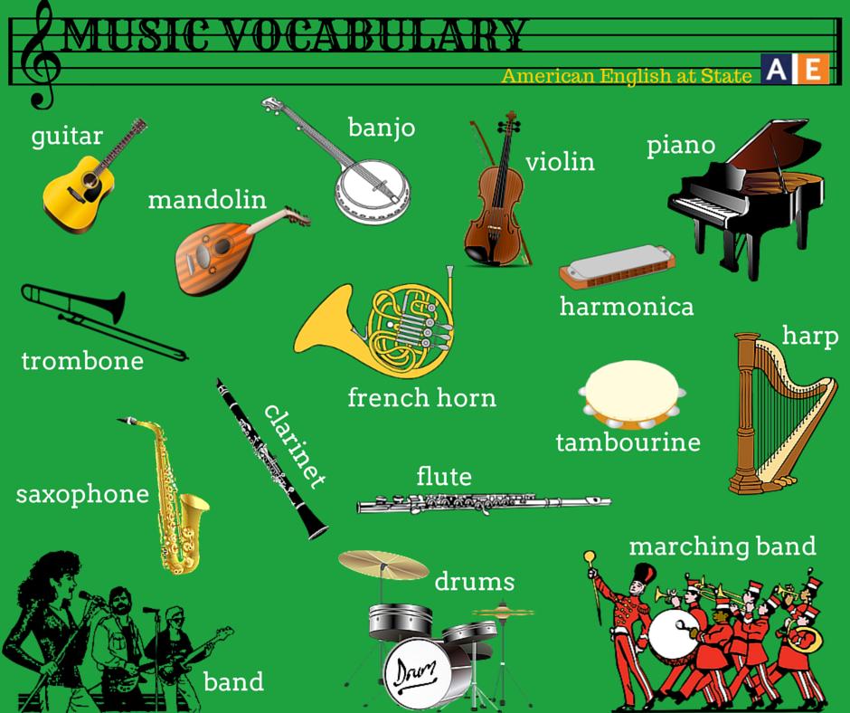 Us Embassy Guatemala On Twitter Aprende Y Enseña Inglés Con Americanenglish Vocabulario De Instrumentos Musicales Http T Co 3fvu2yzklf