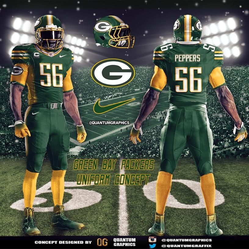 "Quantum Graphics on Twitter: ""Green Bay Packers Uniform ..."