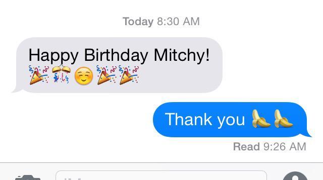 No one said happy birthday?