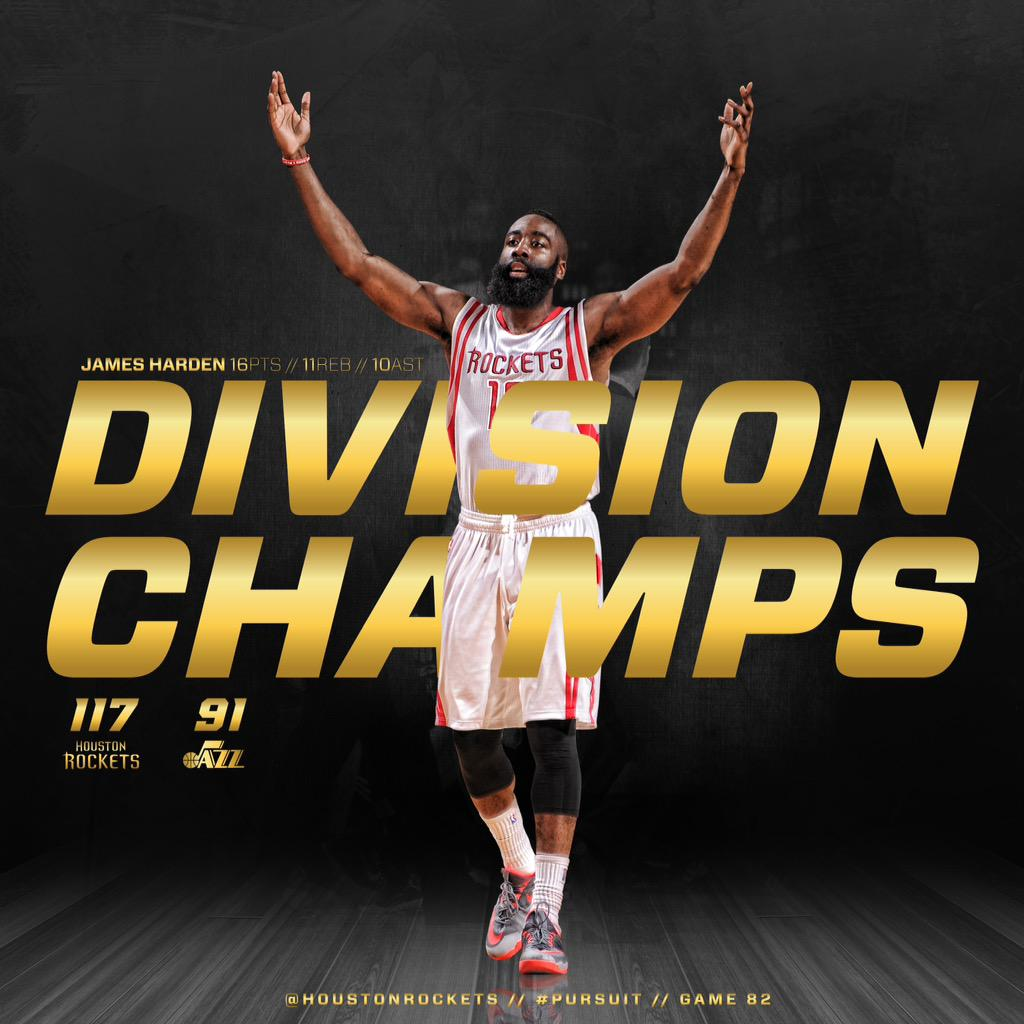 """Houston Rockets On Twitter: """"Southwest Division Champions"""