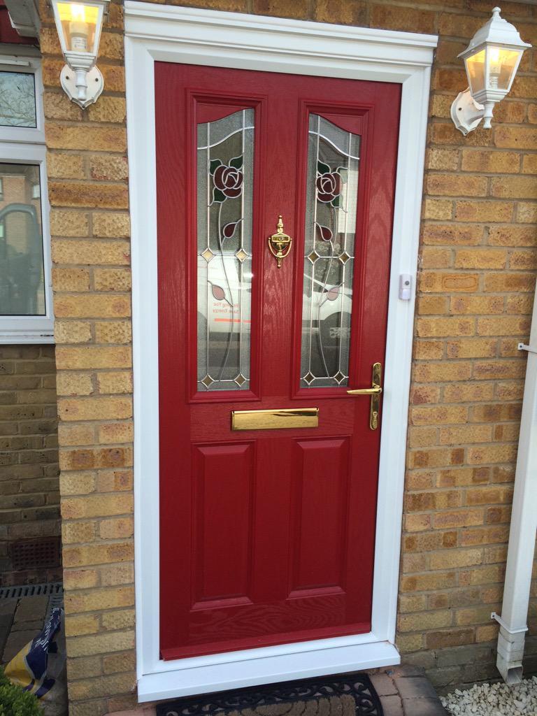 Frontdoorsonlineltd On Twitter Poppy Red Composite Door Fitted In