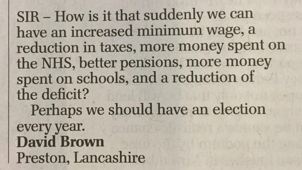 Telegraph letters on top form as usual #GE2015 http://t.co/OcqEKAzF96