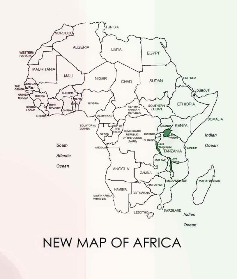 "There's a ""new"" map of Africa circulating that has removed South Africa."