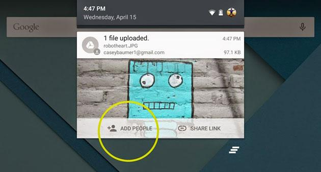 Google Drive for Android now shares files as soon as they're ready
